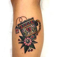tea cup tattoo - Dani Queipo