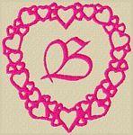 Heart Frame Font 4x4 Embroidery Alphabet by 8Clawsandapaw.com 59870
