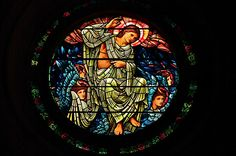 A window in Newcastle cathedral. Designed by Sir William Burne-Jones with glass made by William Morris in 1875