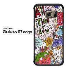 all time low lyric art Samsung Galaxy S7 Edge Case
