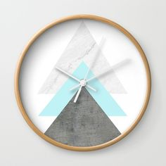 """Arrows Collage Wall Clock by ARTbyJWP via Society6 #wallclock #clock #homedecor #walldeco #wallart #homeoffice - Available in natural wood, black or white frames, our 10"""" diameter unique Wall Clocks feature a high-impact plexiglass crystal face and a backside hook for easy hanging. Choose black or white hands to match your wall clock frame and art design choice. Clock sits 1.75"""" deep and requires 1 AA battery (not included)."""