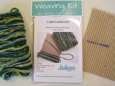 Card weaving kit to make a woven bag.  JUKO Designs.  Met at York Early Christmas Show 2013