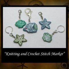 Sea Stitch Markers Crochet Knitting Stitchmarkers Polymer Clay