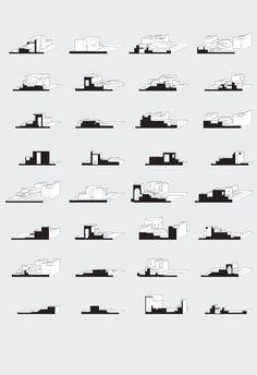 Owen Nichols Room Sections Elevation Oblique Typology Architecture, Architecture Blueprints, Architecture Panel, Architecture Graphics, Architecture Drawings, Landscape Architecture, Oblique Drawing, Axonometric Drawing, Site Analysis