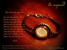 You Are My Person (Leather Friendship Bracelet)