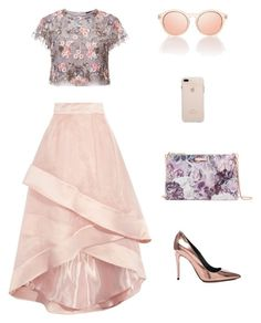 Purple by ma-ri-i on Polyvore featuring мода, Needle & Thread, Coast, Alexander Wang, Ted Baker and Le Specs