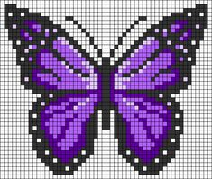 Butterfly Cross Stitch, Cross Stitch Art, Cross Stitch Animals, Cross Stitch Designs, Cross Stitch Embroidery, Cross Stitch Patterns, Easy Perler Bead Patterns, Fuse Bead Patterns, Perler Bead Art