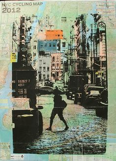 New York City Re-Cycling Map Soho. $35 Kevin Marcell