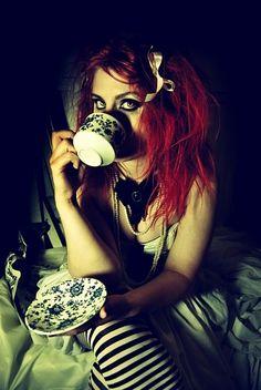 Drink your tea. #alice #wonderland