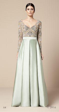 vestido longo com top bordado Mabel Magalhães