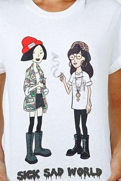 Dimepiece Sick Sad World Tee, tohle tričko je ŽIVOT