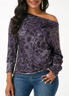 Stylish Tops For Girls, Trendy Tops, Trendy Fashion Tops, Trendy Tops For Women Stylish Tops For Girls, Trendy Tops For Women, Cheap Womens Tops, High Neck Blouse, Crochet Blouse, Printed, Crossover, My Style, Long Sleeve