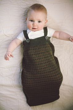 Noel makes the most amazing baby knits! DIY recycled sweater sleepsack | Tibault and Toad