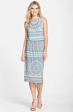Maggy+London+Print+Jersey+Blouson+Dress+available+at+#Nordstrom