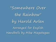 """""""Somewhere Over the Rainbow"""" for English Handbells, free sheet music from www.free-scores.com"""