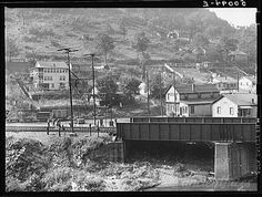 Section of coal mining town near Welch, West Virginia