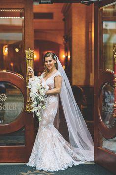Elegant Wedding Dress - Modern and Elegant Real Wedding - Calgary Bride