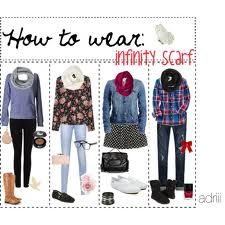 How to: Wear an infinity scarf. I'm going to need this soon!
