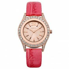 Oasis Watches Woman's Oasis Pink Leather Watch B1298