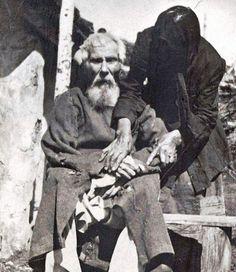Единственная фотография участника Бородинского сражения. Павел Яковлевич Толстогузов в возрасте 117 лет, 1912
