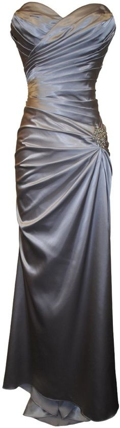 Long Dress, Strapless Long Satin Bandage Gown Bridesmaid Dress Prom Formal Crystal Pin : Fashion Shop Online, New Trend of Fashion