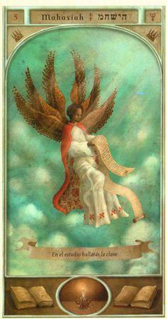 (5) MAHASIASH (Kabbalistic angel) protects those born 10 -14 April, contributes to harmony in relationships. (ángel Cabalístico) protege aquellos nacidos 10 - 14 abril, contribuye a la armonía en las relaciones.