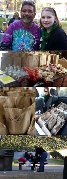 random acts of christmas kindness - feeding the homeless