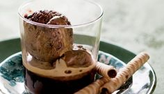 Chocolate Affogato - A quick and sumptuous dessert with a coffee kick. Mini Desserts, Sweet Desserts, Delicious Desserts, Baking Recipes, Dessert Recipes, Dessert Ideas, Chocolate Ice Cream, Recipe Search, Mini Foods