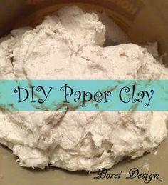 Easy, inexpensive recipe and directions on how to make your own paper clay for paper mache and other projects using toilet tissue paper. Projects paper How To Make Your Own Paper Clay Paper Mache Paste, Paper Mache Clay, Paper Mache Sculpture, Clay Sculptures, Paper Mache Pumpkin, Paper Mache Flowers, Diy Clay, Clay Crafts, Paper Crafts