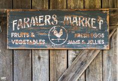 Antique Haul|Old Farmer's Market Sign