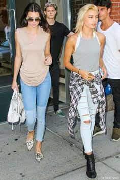 Kendall Jenner and Hailey Rhode Baldwin out in New York City, New York - September 1, 2014
