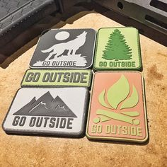 Go Outside PVC Patches