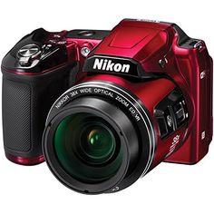 Nikon Coolpix L840 Wi-Fi Digital Camera (Red)(Certified Refurbished)