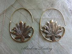 Hey, I found this really awesome Etsy listing at https://www.etsy.com/listing/236813609/tribal-lotus-earrings-hoop-earrings