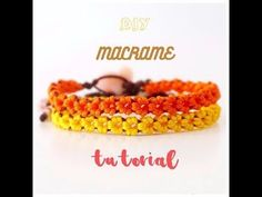 DIY Macrame tutorial. How to make easy floral macrame bracelet. - YouTube