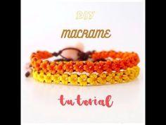 DIY Macrame tutorial. How to make easy floral macrame bracelet. - YouTube