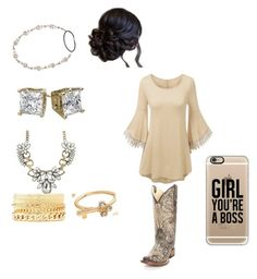 Country cotillion by cheerleader2015 on Polyvore featuring Circle G, Charlotte Russe, Mudd, Casetify, Jennifer Behr and country