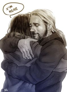 """""""I might actually hug you if you were here."""" """"I'm here."""" – I don't really understand this part. Why did Thor say that, throw something, Loki catches it and says, """"I'm here,"""" but Thor doesn't hug him? Why did Thor say that and throw that..what ever that thing was? Did he think Loki was an illusion? I don't get it...Maybe I'm daft."""