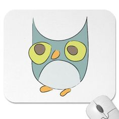Angry Owl Mouse Pads