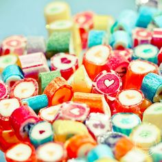 Cute Lovely Colorful Candies iPad wallpaper