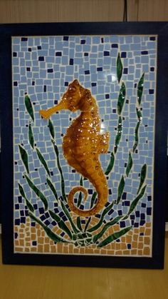 Mosaico cavalo marinho