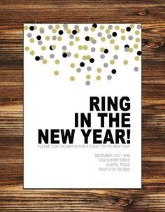 Printable New Year's Party Invitation (Digital File). $15.00, via Etsy.