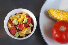 Tomato Corn Salad with Honey Lime Vinaigrette