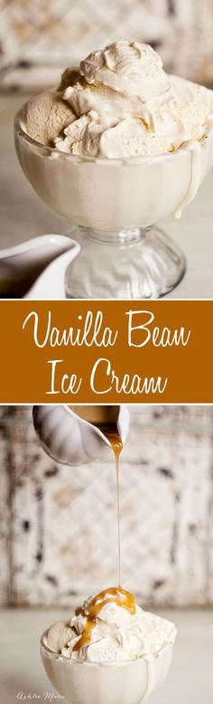 This is a custard based vanilla bean ice cream.  It has a rich flavor with an insanly creamy texture and is a great base for any topping