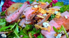 The Kitchen Witch: Steak Salad with Arugula, Walnuts, and Roasted Pears