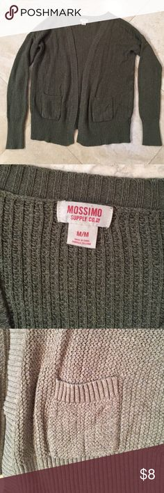 Cardigan Nice moss green. Mint condition. Mossimo Supply Co Sweaters Cardigans
