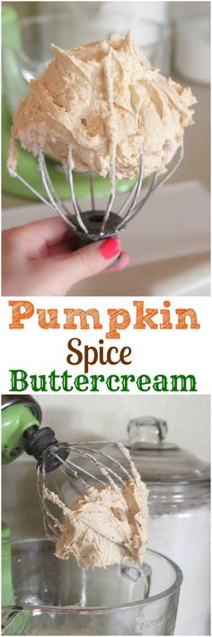 Spice Buttercream Frosting Pumpkin Spice Buttercream, perfect for all of your Fall Baking!Pumpkin Spice Buttercream, perfect for all of your Fall Baking! Köstliche Desserts, Delicious Desserts, Dessert Recipes, Yummy Food, Tasty, Weight Watcher Desserts, Thanksgiving Recipes, Fall Recipes, Holiday Recipes