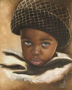 20 Beautiful African Children Paintings By Dora Alis - Fine Art and You - Painting African American Art, African Art, Arte Black, African Children, Art Children, Art Africain, Black Artwork, Black Women Art, Black Artists
