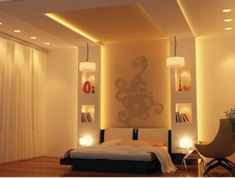 By anmol decore | homify House Ceiling Design, Ceiling Design Living Room, Bedroom False Ceiling Design, Luxury Bedroom Design, Room Design Bedroom, Home Ceiling, Bedroom Ceiling, Bedroom Furniture Design, Interior Design