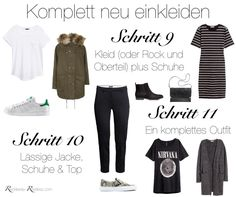 Möchte mich neu einkleiden - Teil 5 Completely Re-Dress Instructions - Steps 9 to 11 in the Capsule Neue Outfits, Komplette Outfits, Basic Outfits, Warm Outfits, Trendy Outfits, French Capsule Wardrobe, Wardrobe Basics, Minimalist Wardrobe, Minimalist Fashion